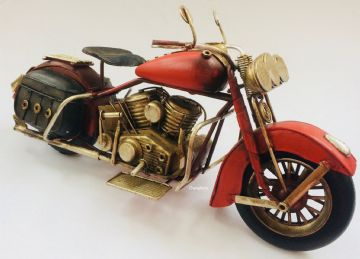 Iconic Harvey Davidson RED BIKE HOG MOTORBIKE Model ORO732